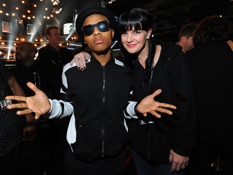 Social Media Reporters, Shad Moss and Pauley Perrette