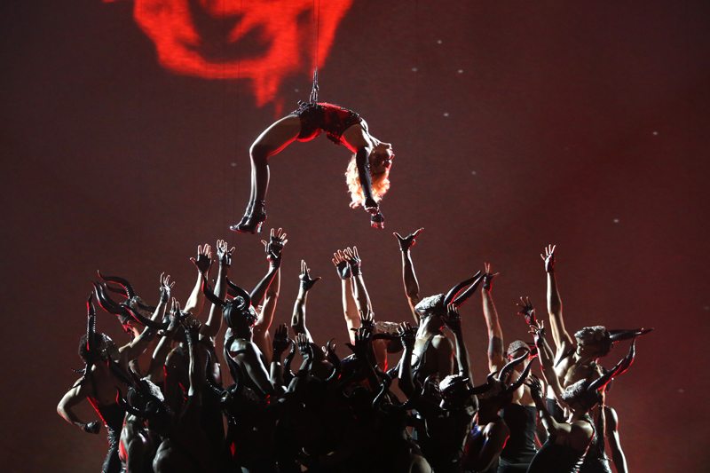 Madonna Performs during The GRAMMY Awards