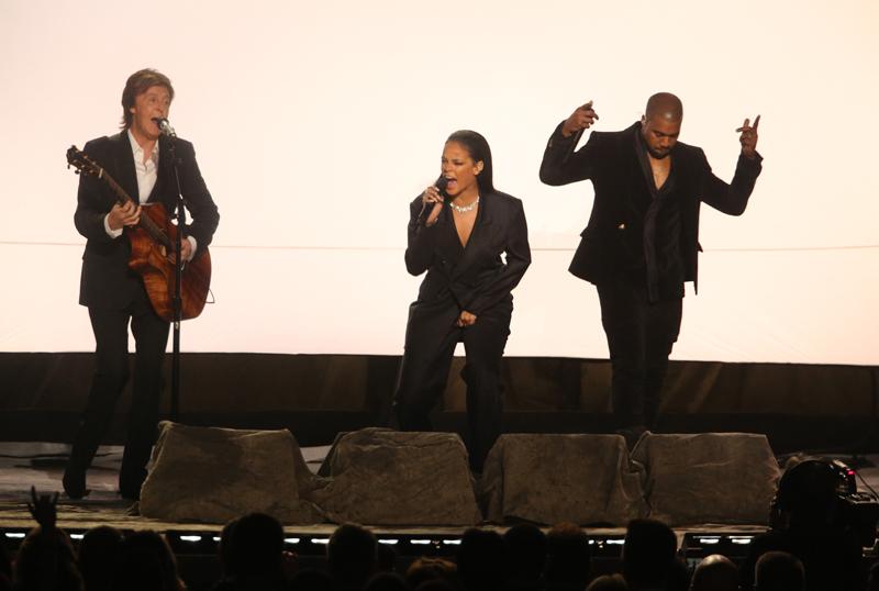 Paul McCartney, Rihanna and Kanye West