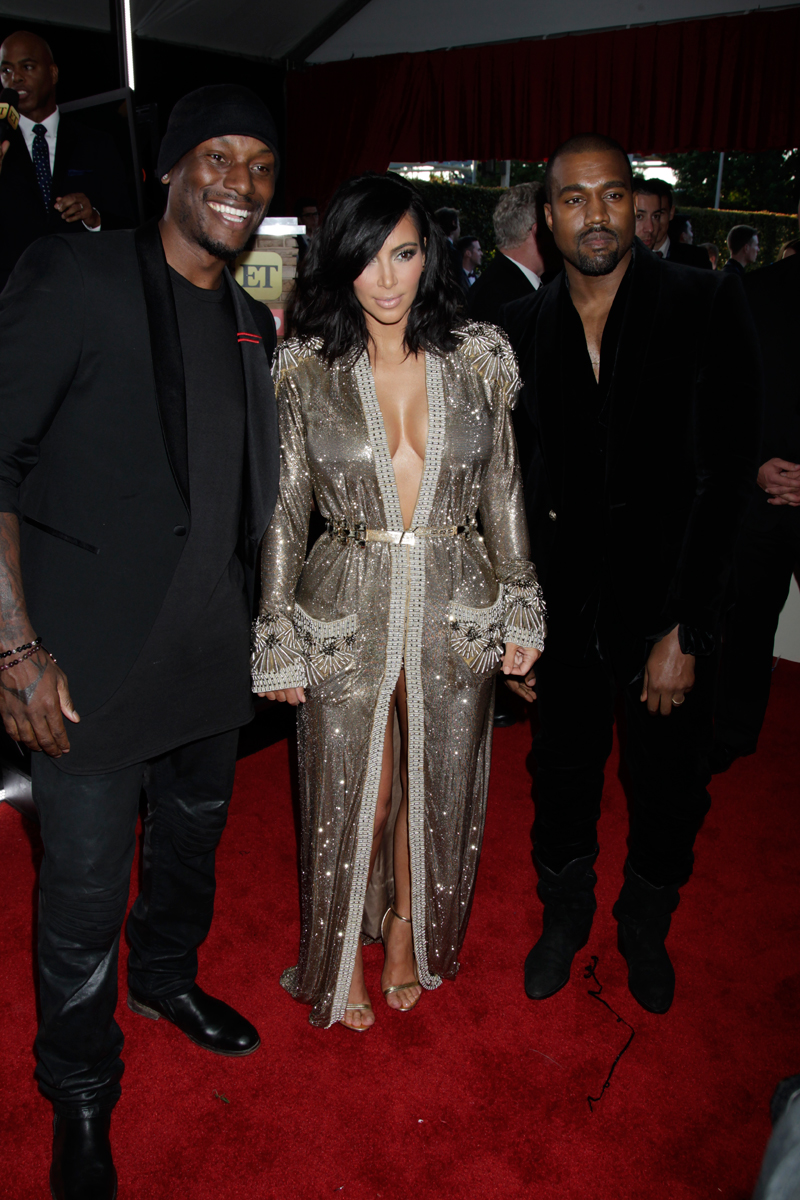 Tyrse Gibson, Kim Kardashian, and Kanye West