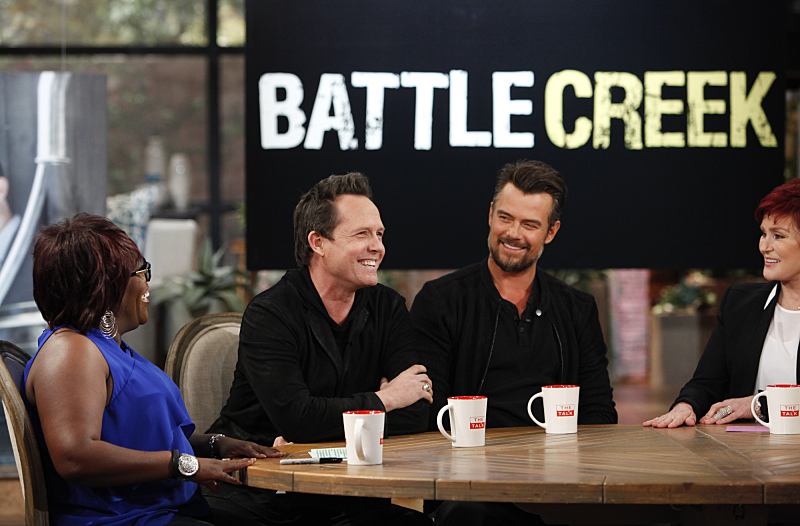 Dean Winters and Josh Duhamel visit THE TALK