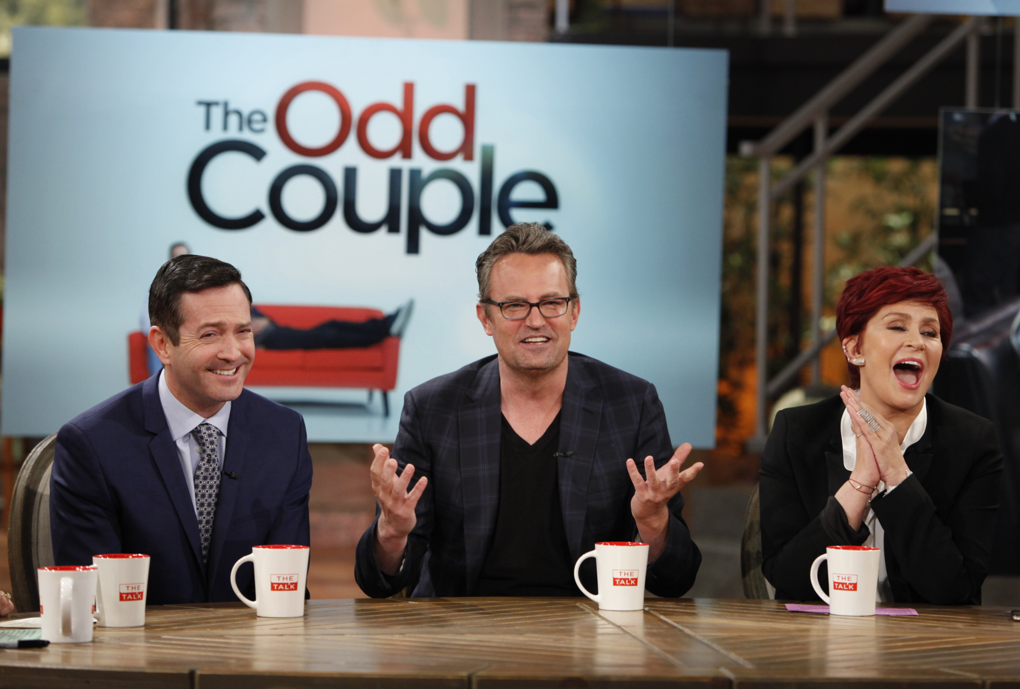 Silly antics with Thomas Lennon and Matthew Perry