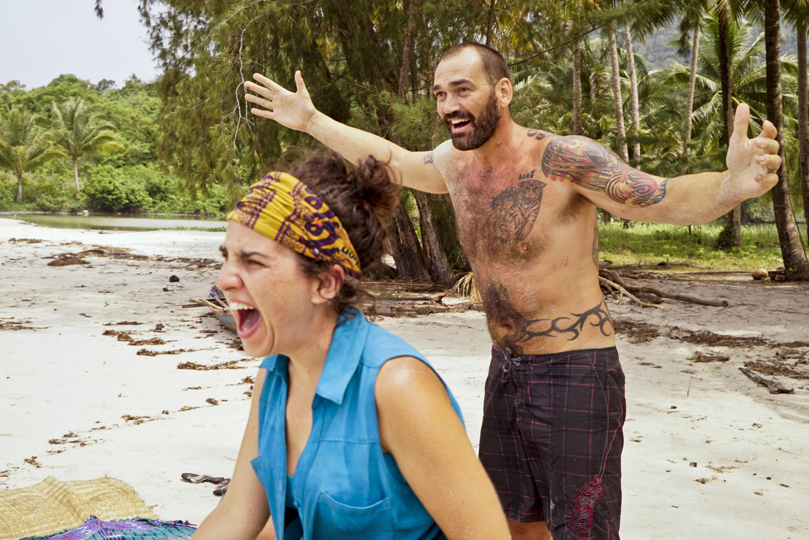 Aubry and Scot are thrilled when they notice a very special surprise heading their way.