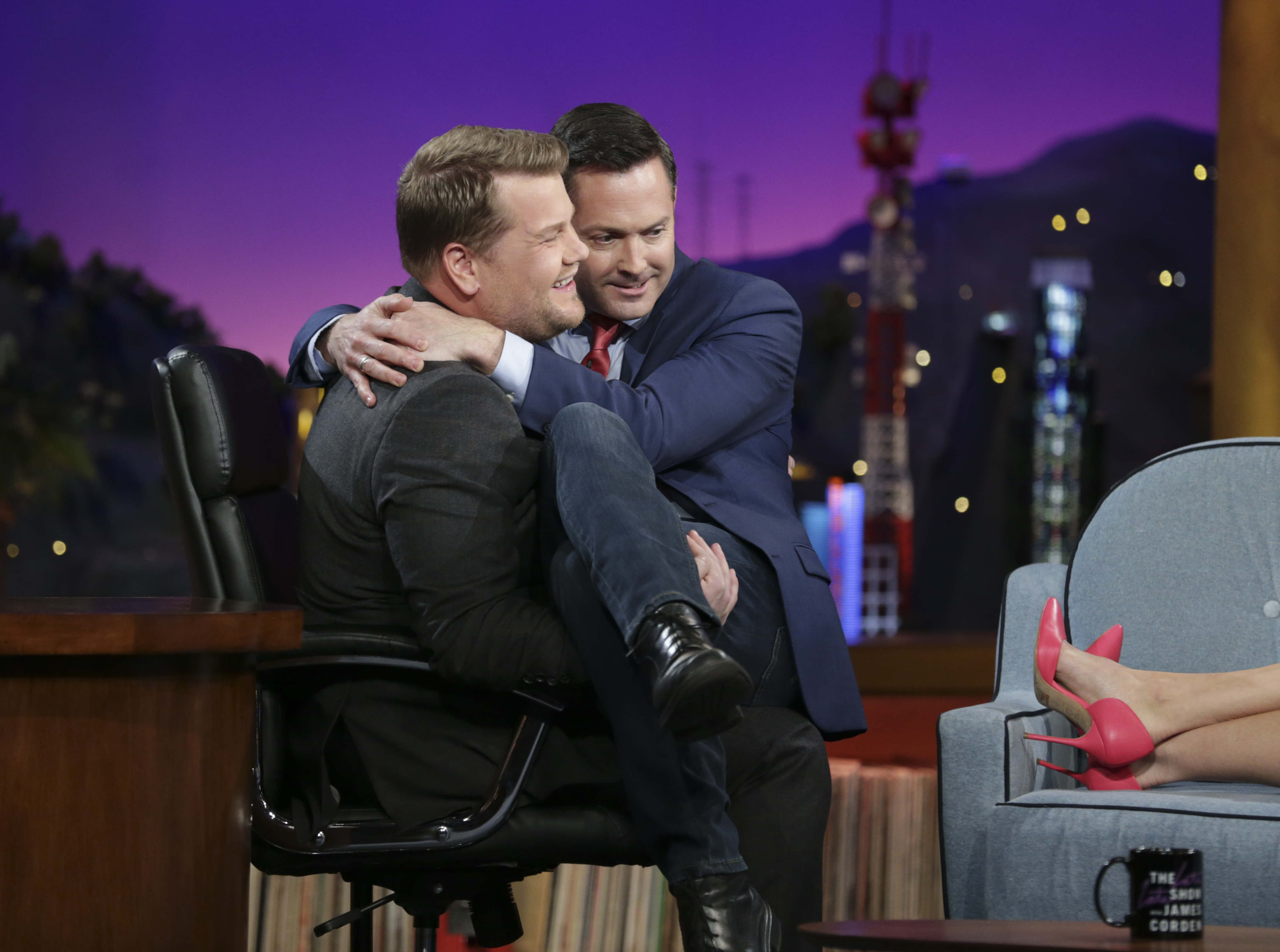 Thomas Lennon needed James' comforting embrace.