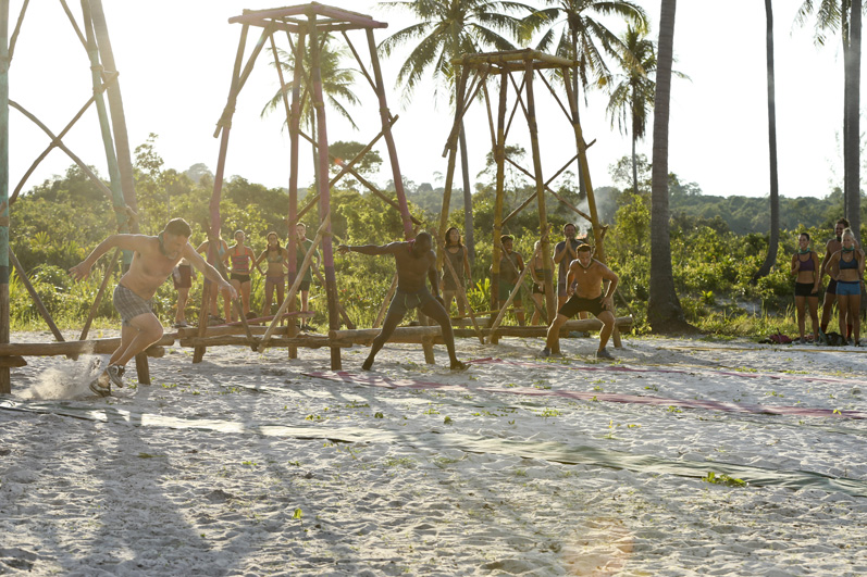 These castaways hit the ground—er, sand—running