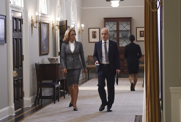 Madam Secretary: Elizabeth and Russell team up to take down Sterling.