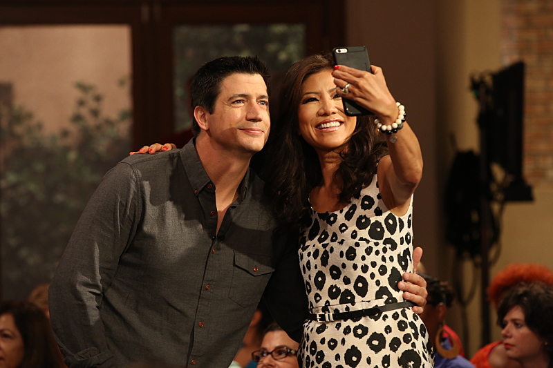 Ken Marino and Julie Chen
