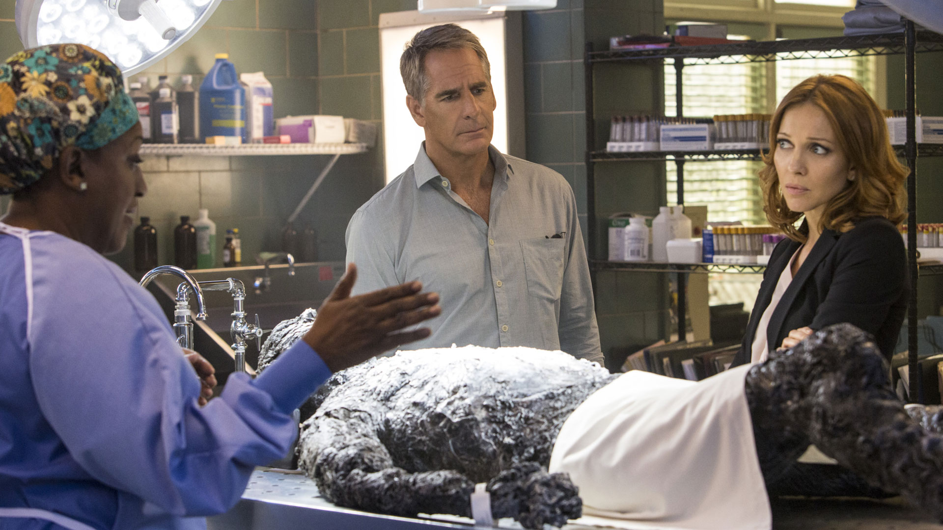 CCH Pounder as Dr. Loretta Wade and Scott Bakula as Dwayne Pride