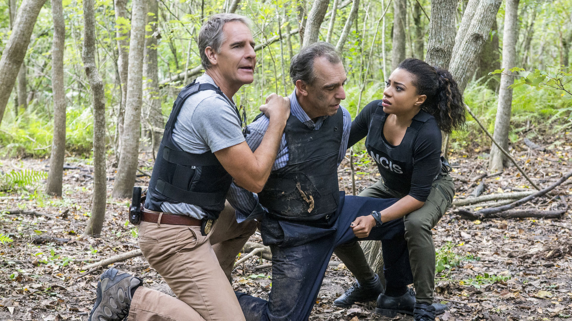 Scott Bakula as Dwayne Pride and Shalita Grant as Sonja Percy