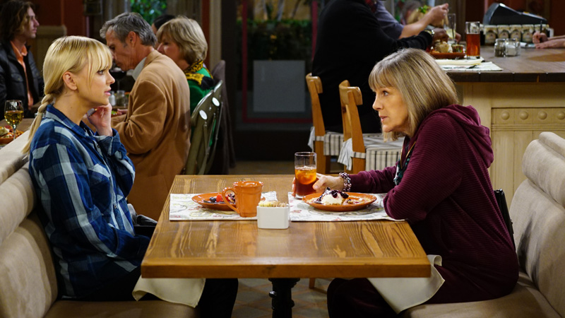 Christy learns a thing from Mimi during their lunch date.