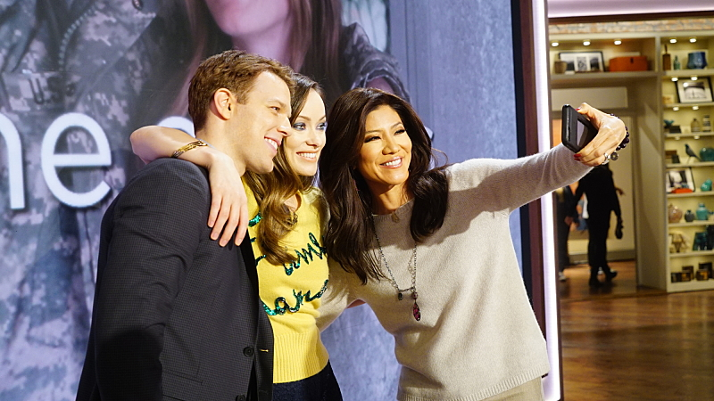 Jake Lacy, Olivia Wilde and Julie Chen