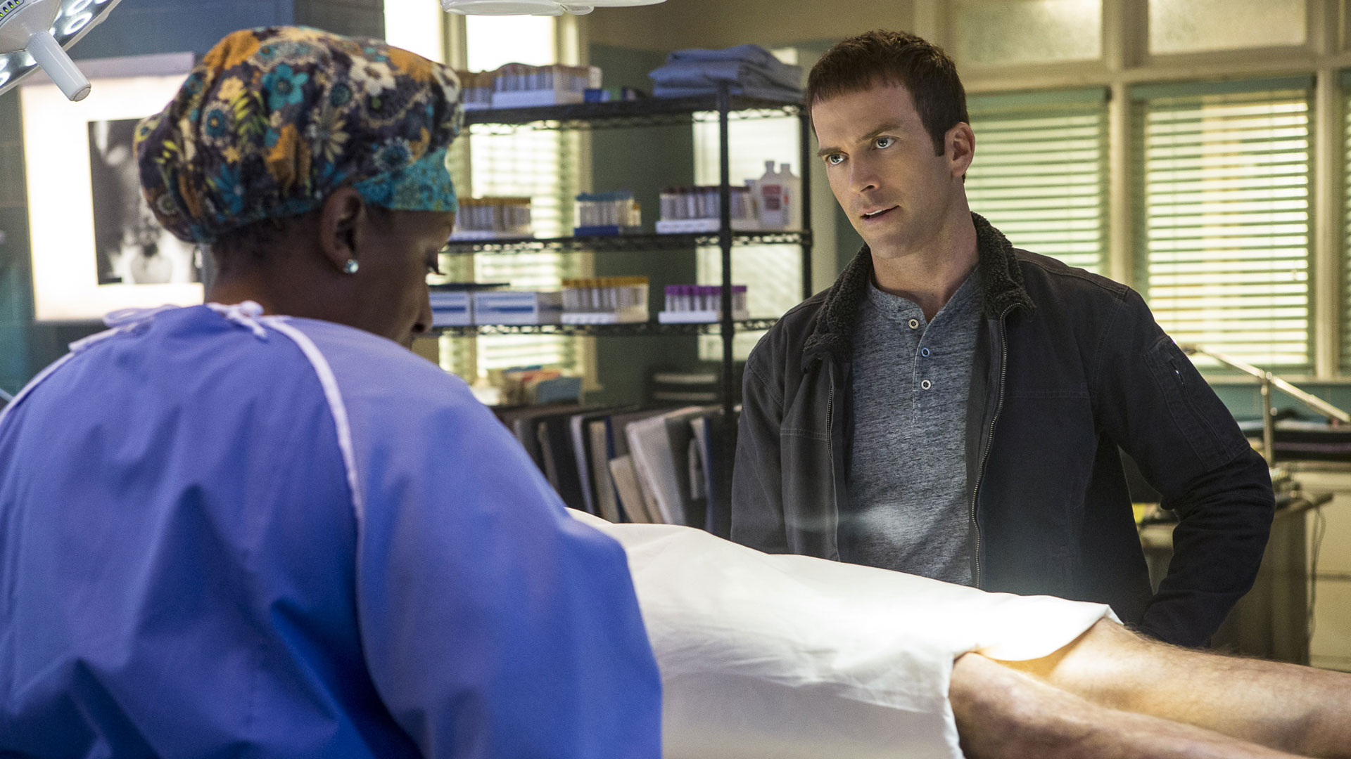 CCH Pounder as Dr. Loretta Wade and Christopher LaSalle as Lucas Black