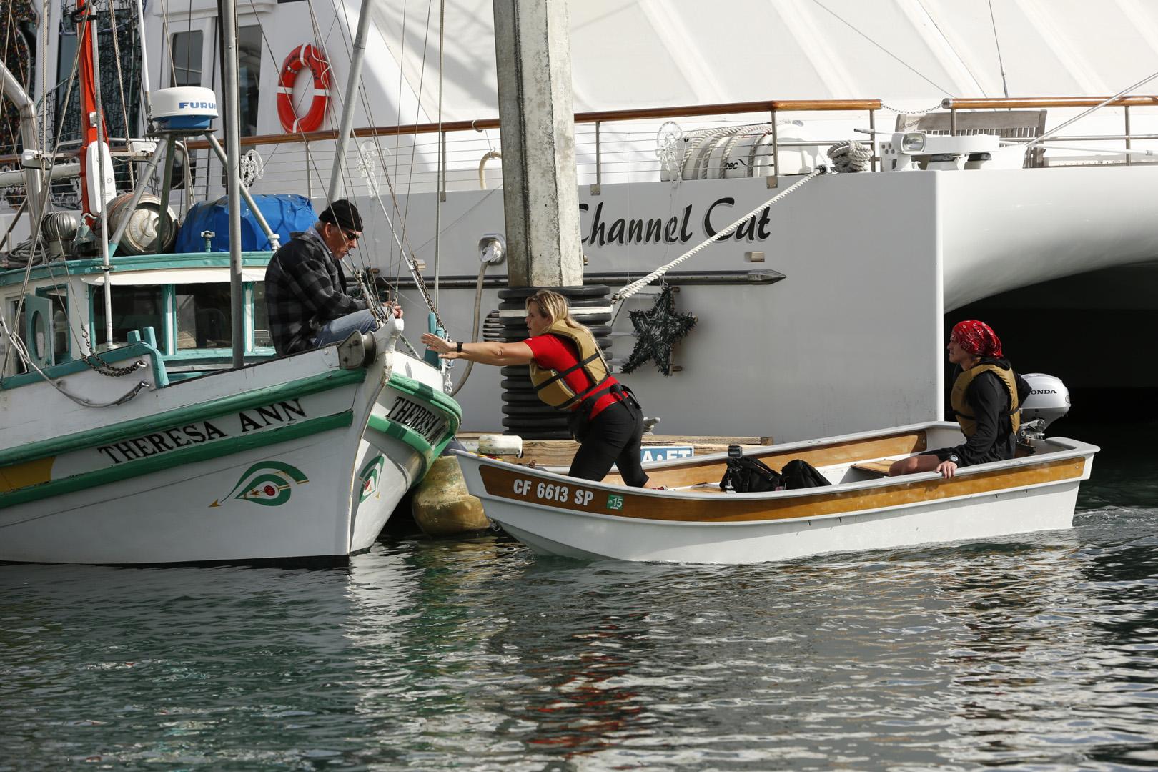 Sheri and Cole search Santa Barbara Harbor for the