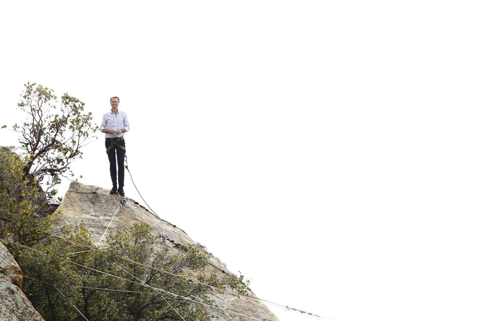 Host Phil Koeghan surveys the beautiful view of southern California from his spot on the mountain.