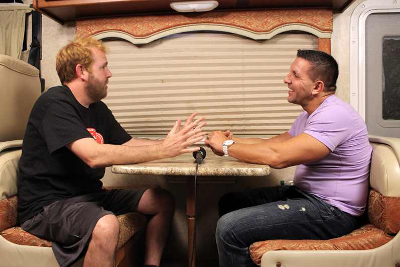 Tim and Rod talk about how everything is going with the Muscle Maker Grill employees.