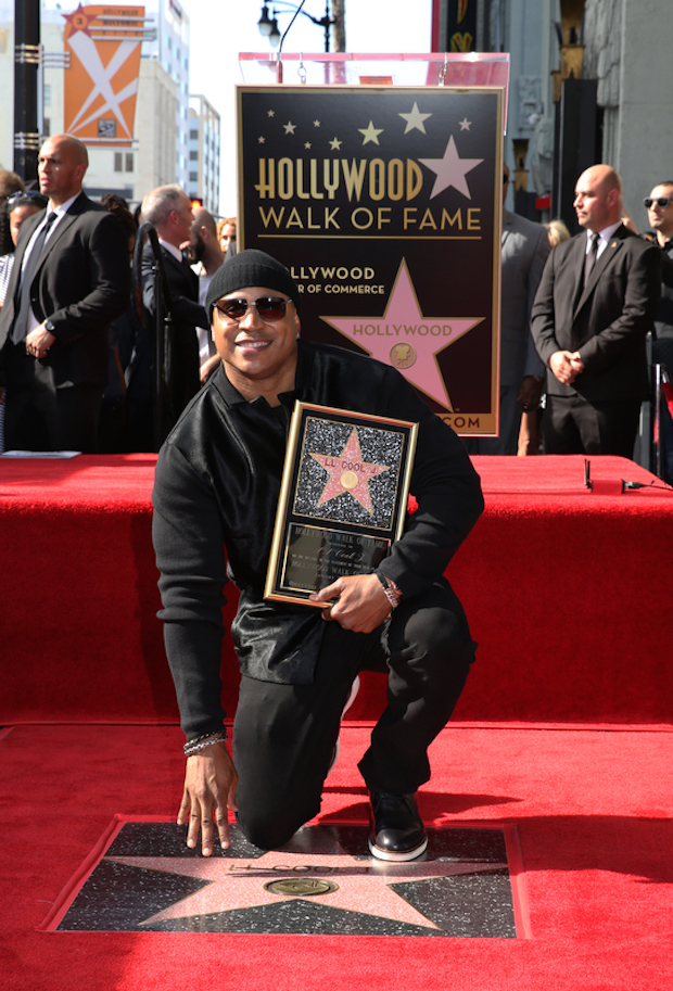 LL COOL J was all smiles at the milestone ceremony