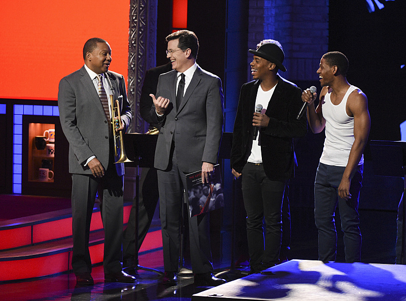 Wynton Marsalis, Lil Buck, Jared Grimes and Stephen Colbert