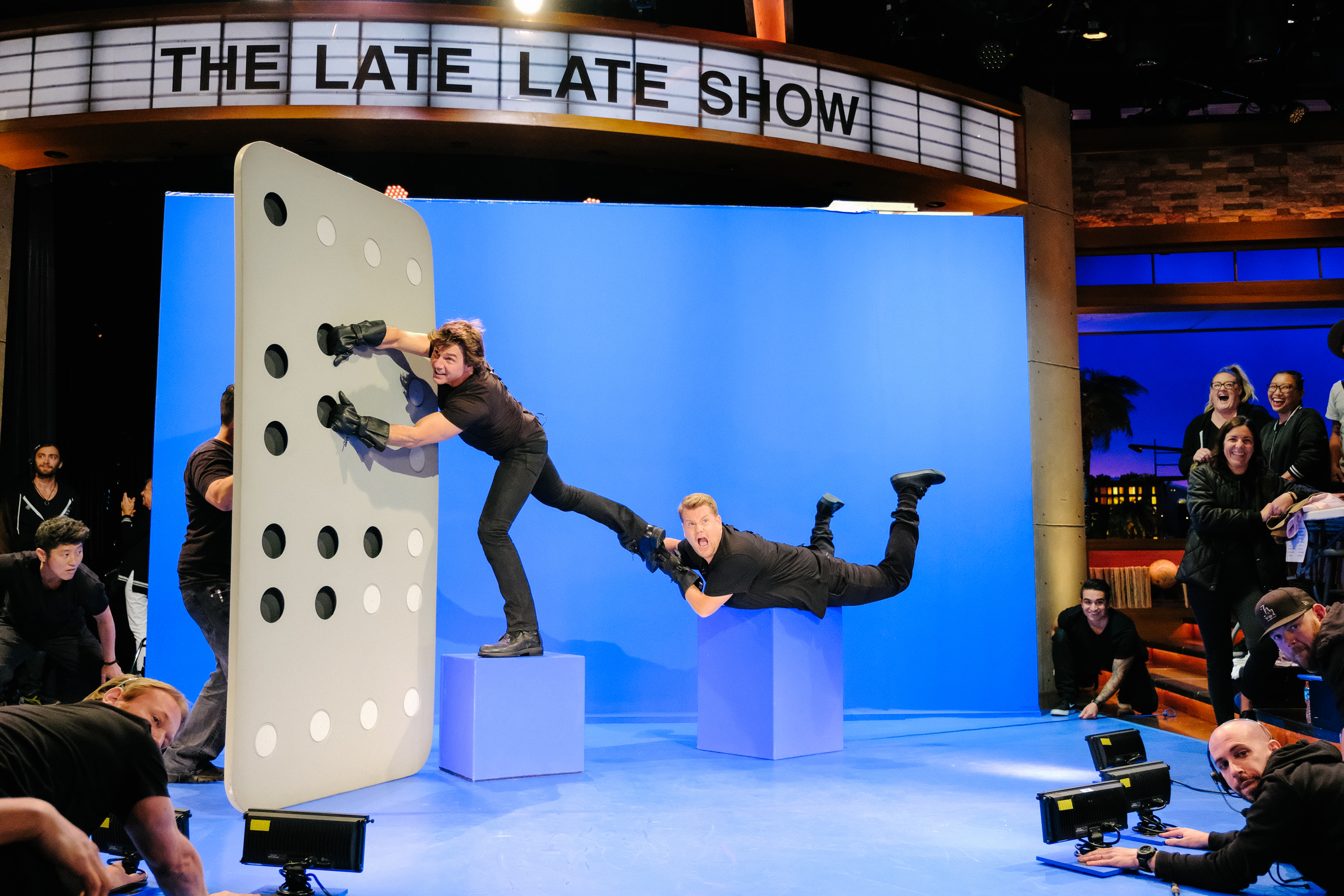 Tom Cruise and James Corden reenact the plane scene from Mission: Impossible - Rogue Nation.