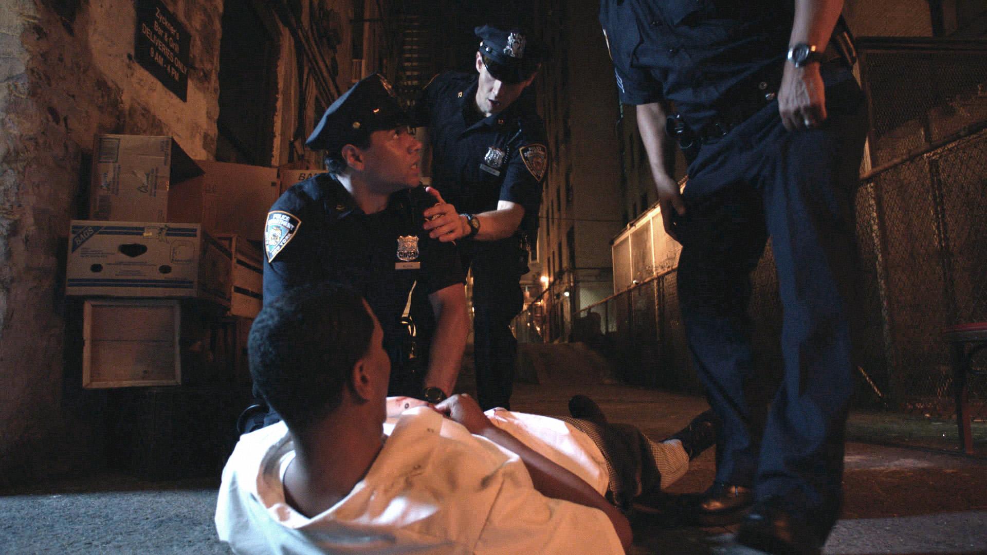 Officer Blake Arrives On the Scene