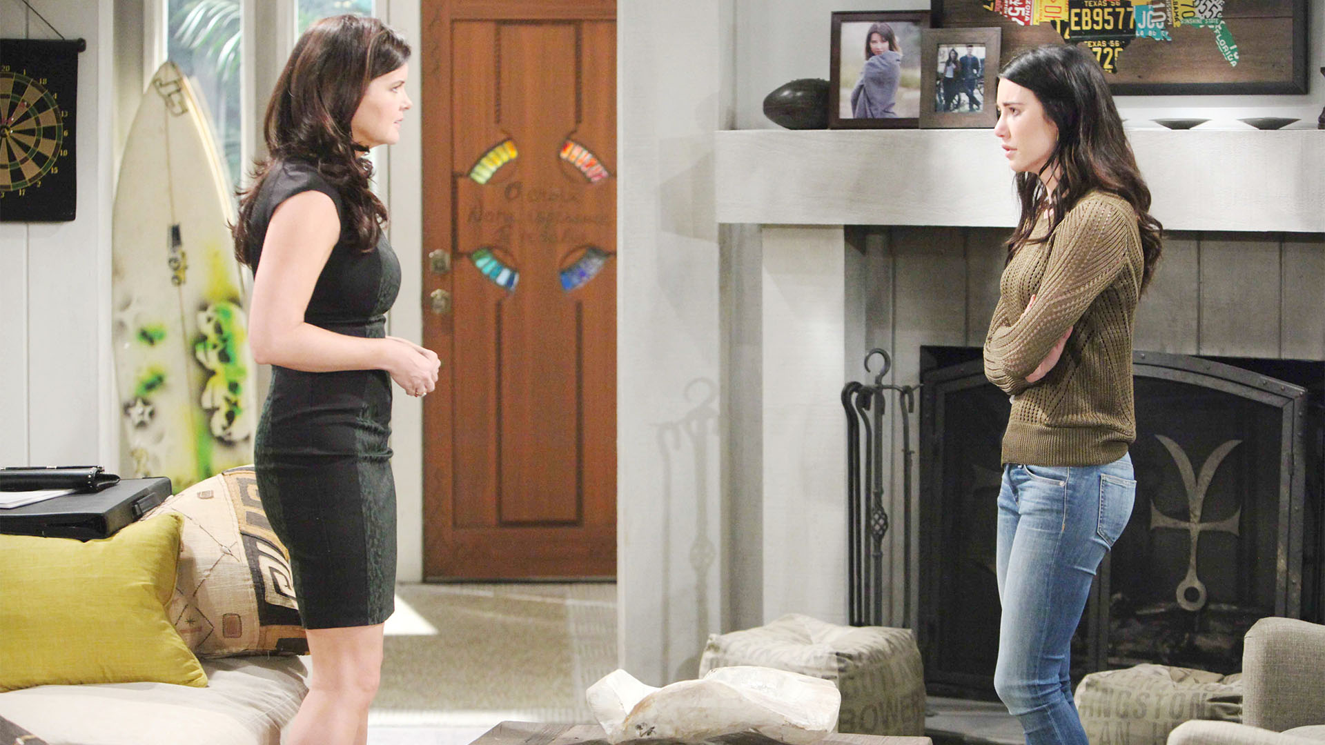 Steffy confesses to an incredulous Katie about her affair with Bill, then begs for her silence.
