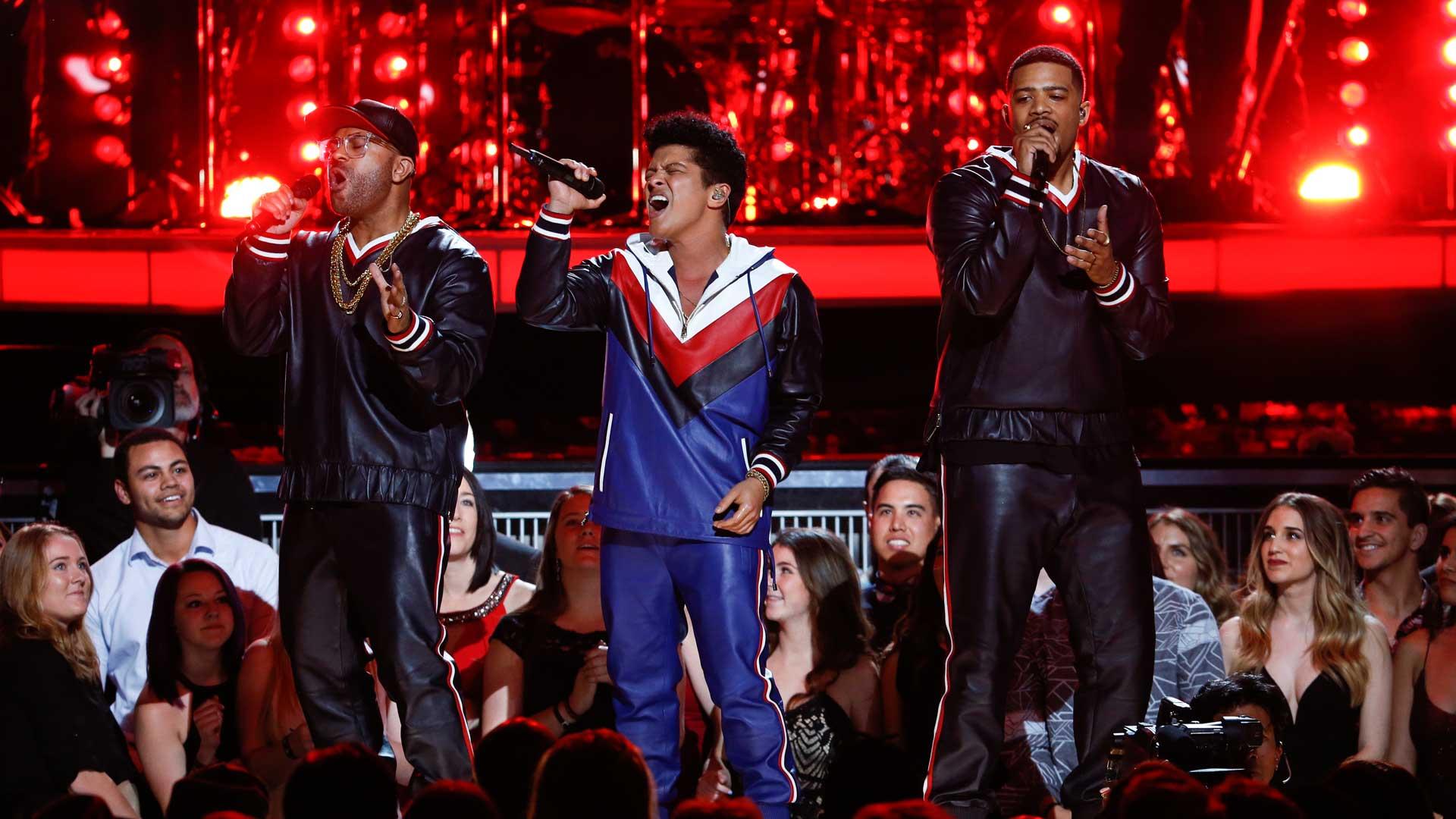 Bruno Mars performs