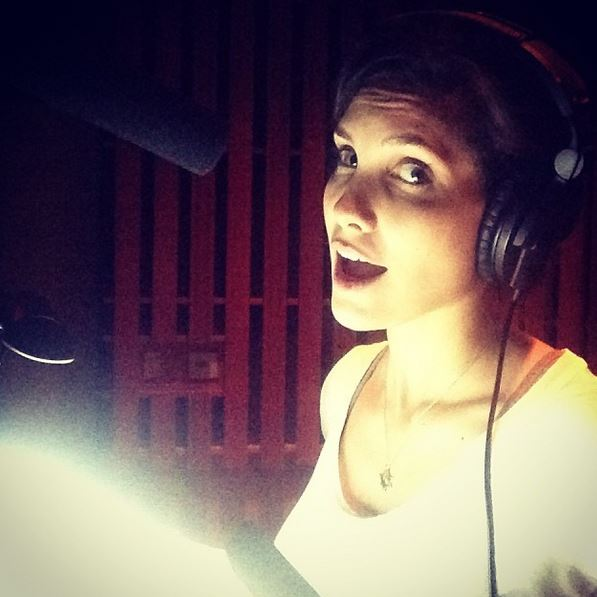 13. She takes you way behind the scenes and into the recording booth.