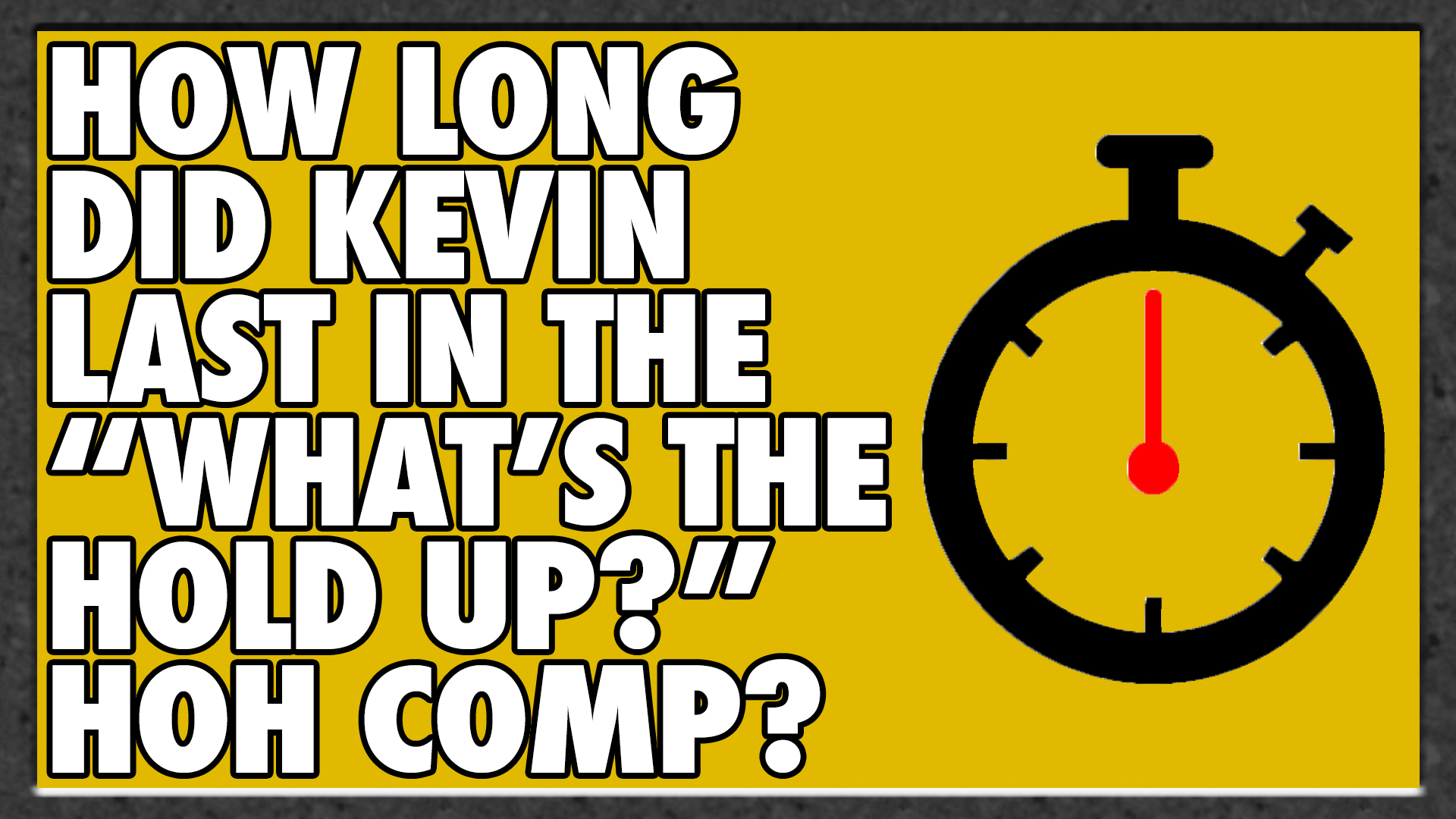 How long did Kevin last in the