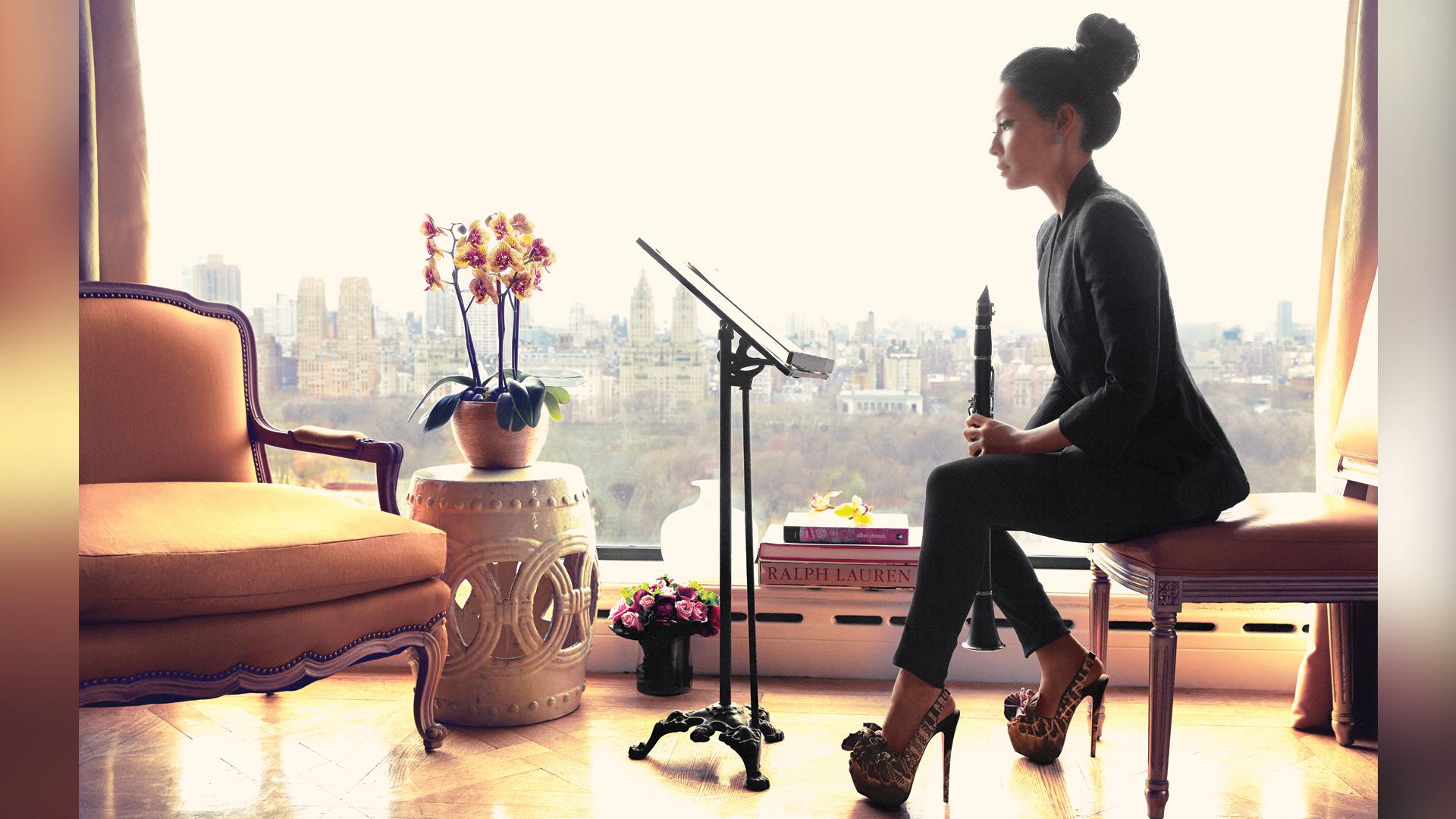 Lucy Liu has a delicate beauty