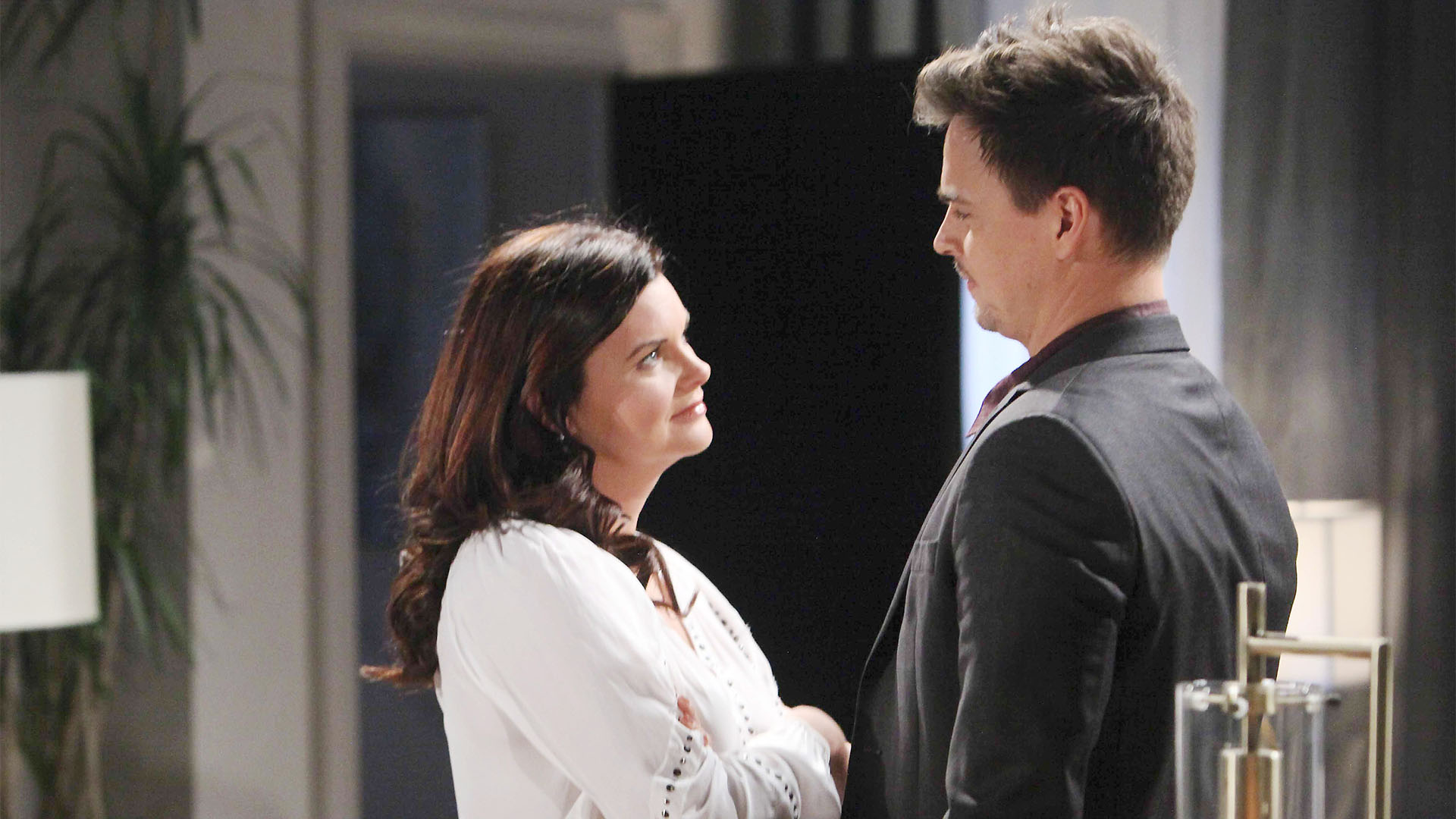 Wyatt voices his concerns to Katie about why she would prefer to attend the wedding solo.
