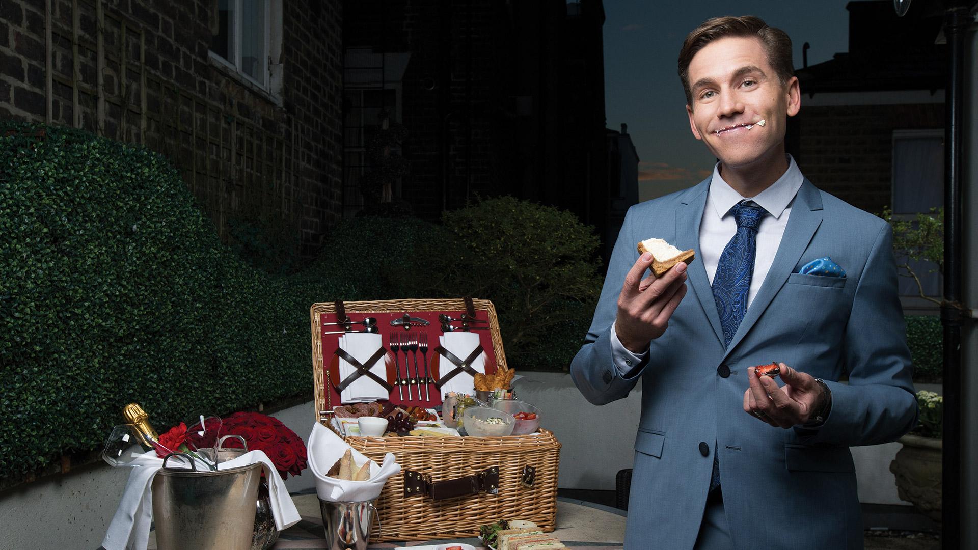 Brian Dietzen hosts a playful picnic