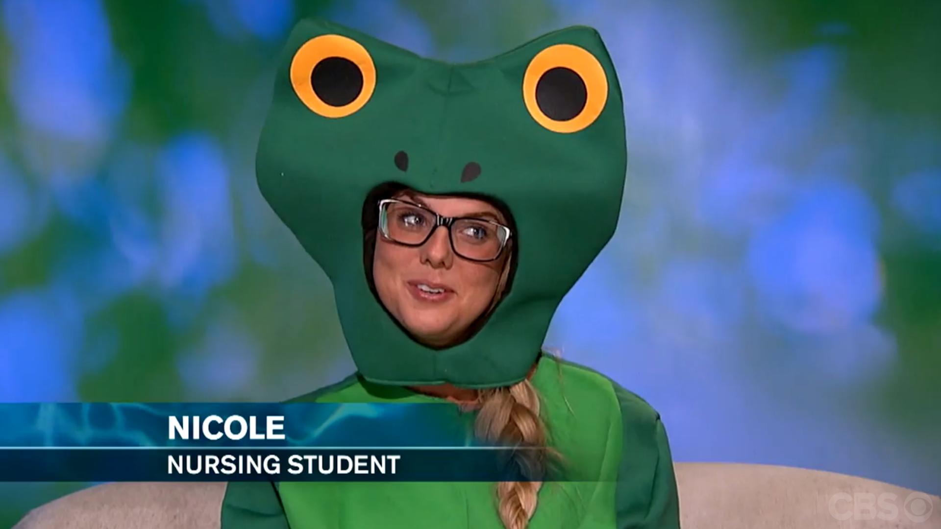 Nicole Franzel's frog costume