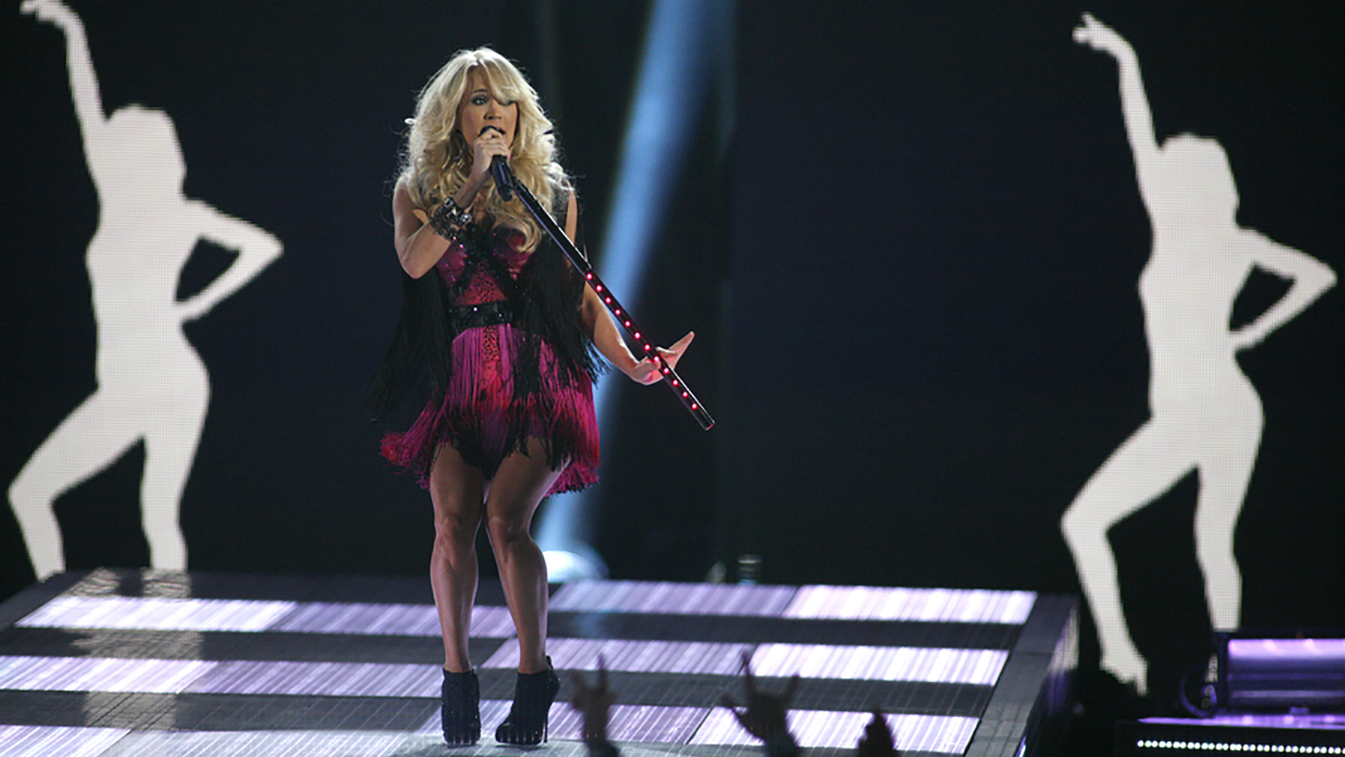 30. Carrie Underwood performs
