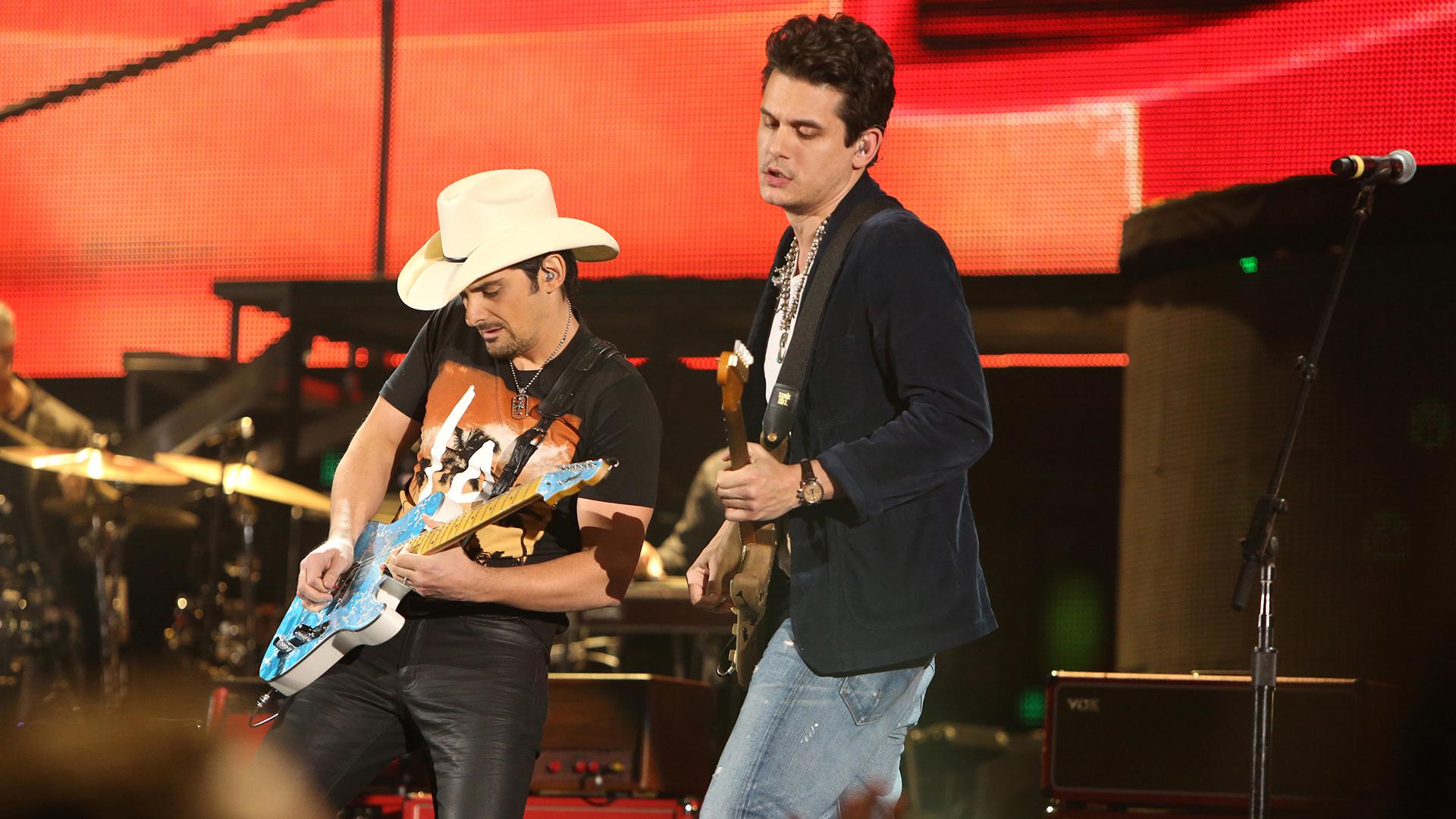 2. Brad Paisley and John Mayer perform