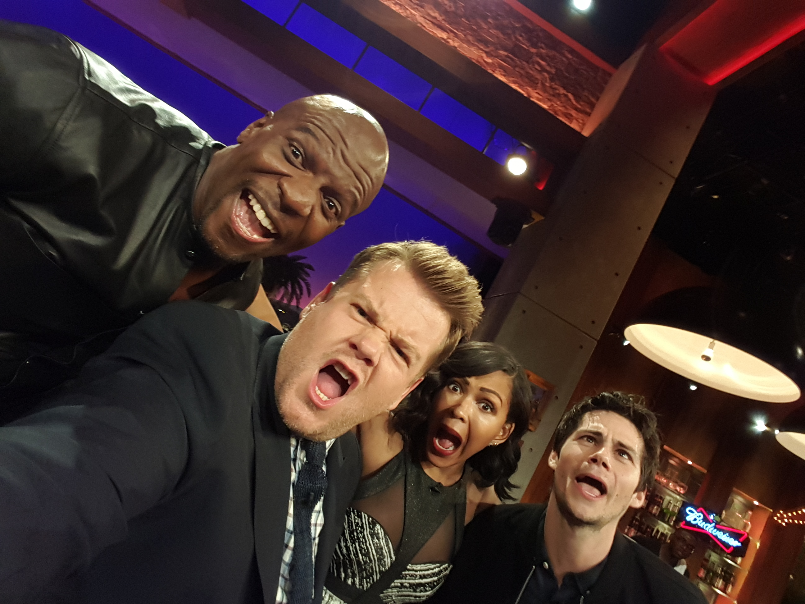 Terry Crews, Meagan Good and Dylan O'Brien
