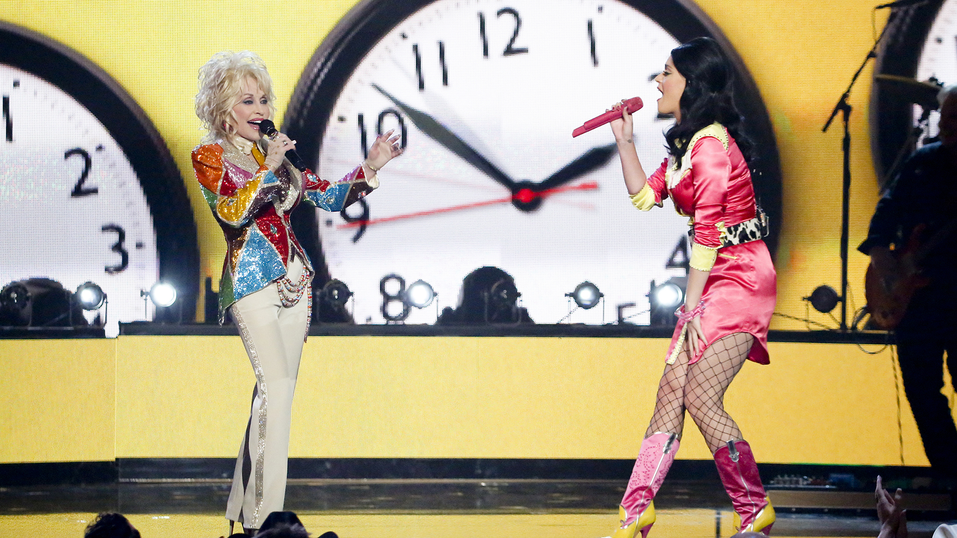12. Dolly Parton and Katy Perry perform