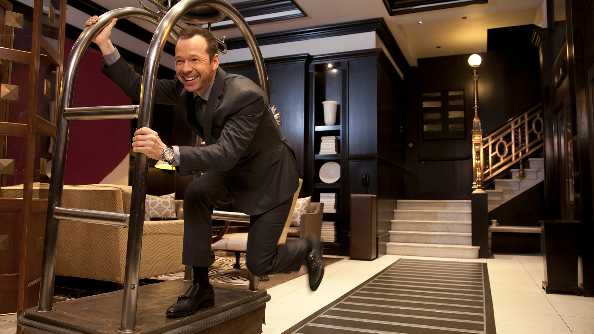 Fun and games with Donnie Wahlberg