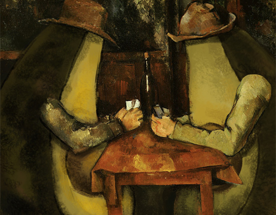 The Card Players with Avocado, Paul Cezanne, 1894