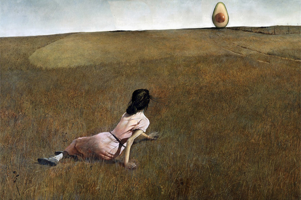 Christina's World with Avocado, Andrew Wyeth, 1948