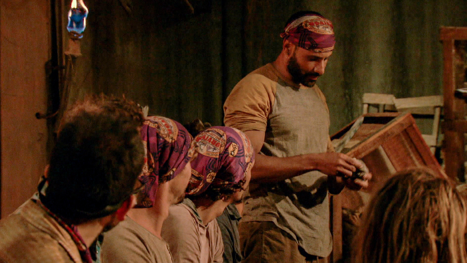 When Joe proudly wore his Idol at Tribal Council.