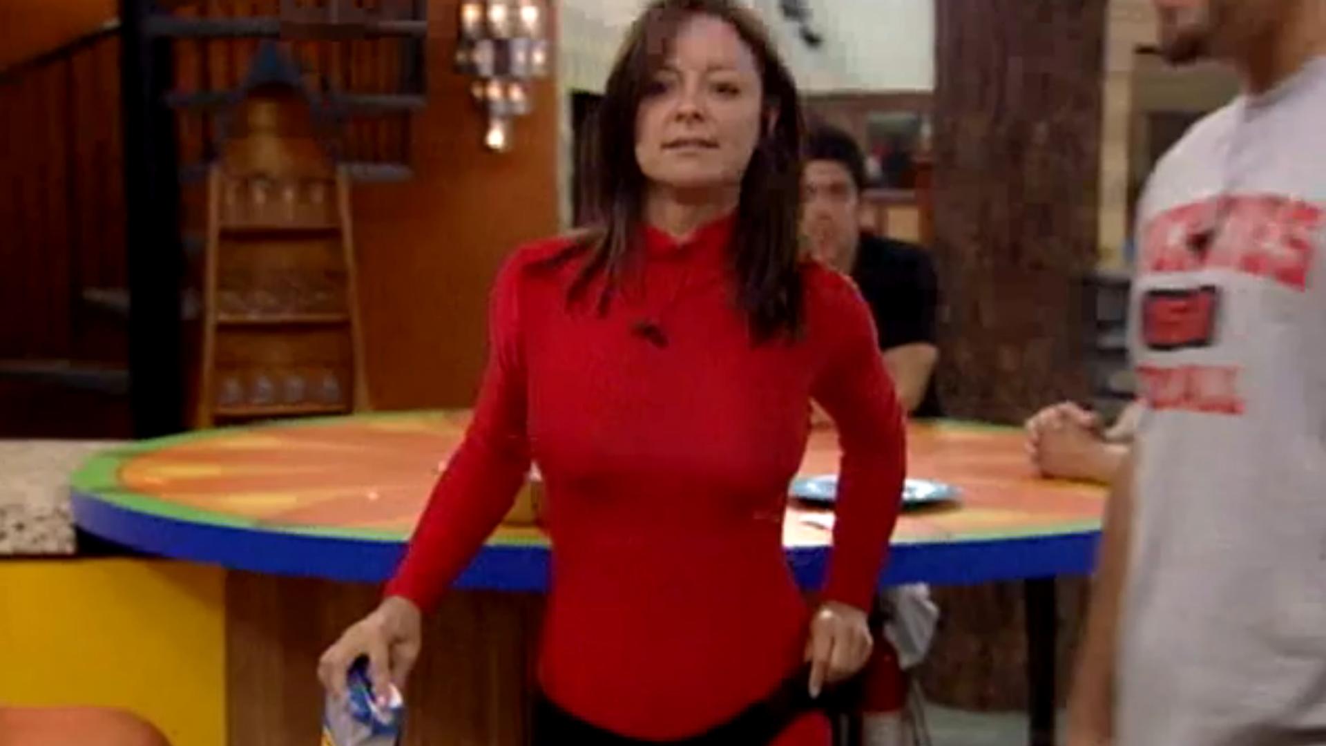 Sheila Kennedy's red unitard