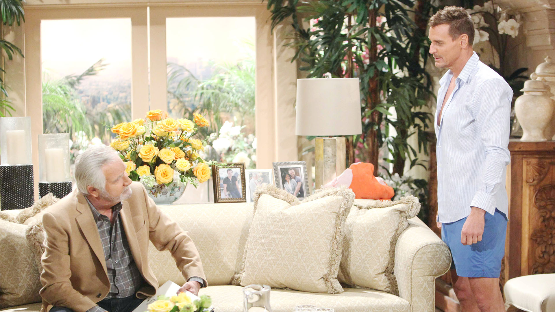 Thorne reveals the secret of what he's been doing Paris, and his desire to oust Ridge from Forrester Creations, to Eric.