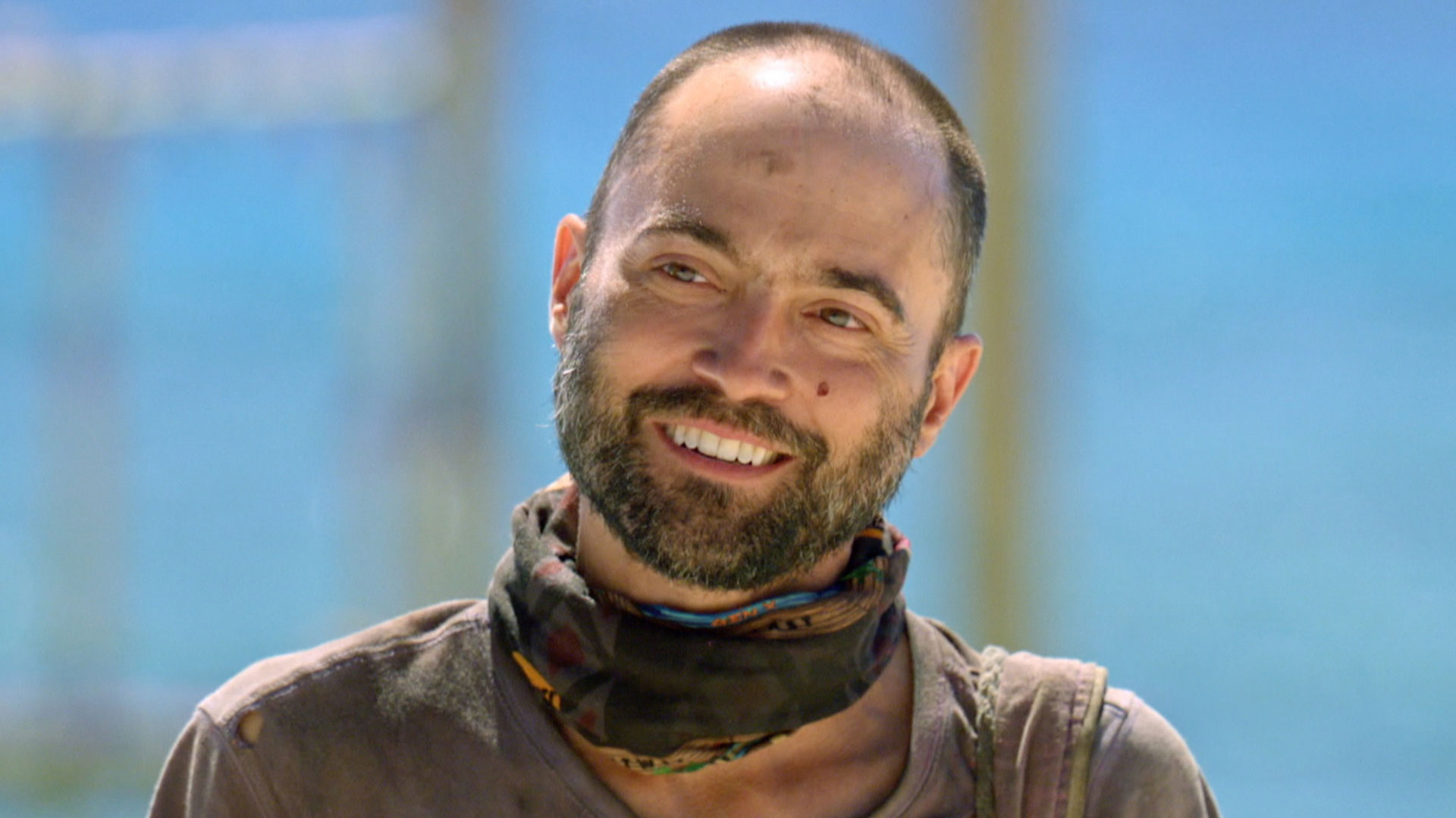David shares a smile before hearing the challenge details.