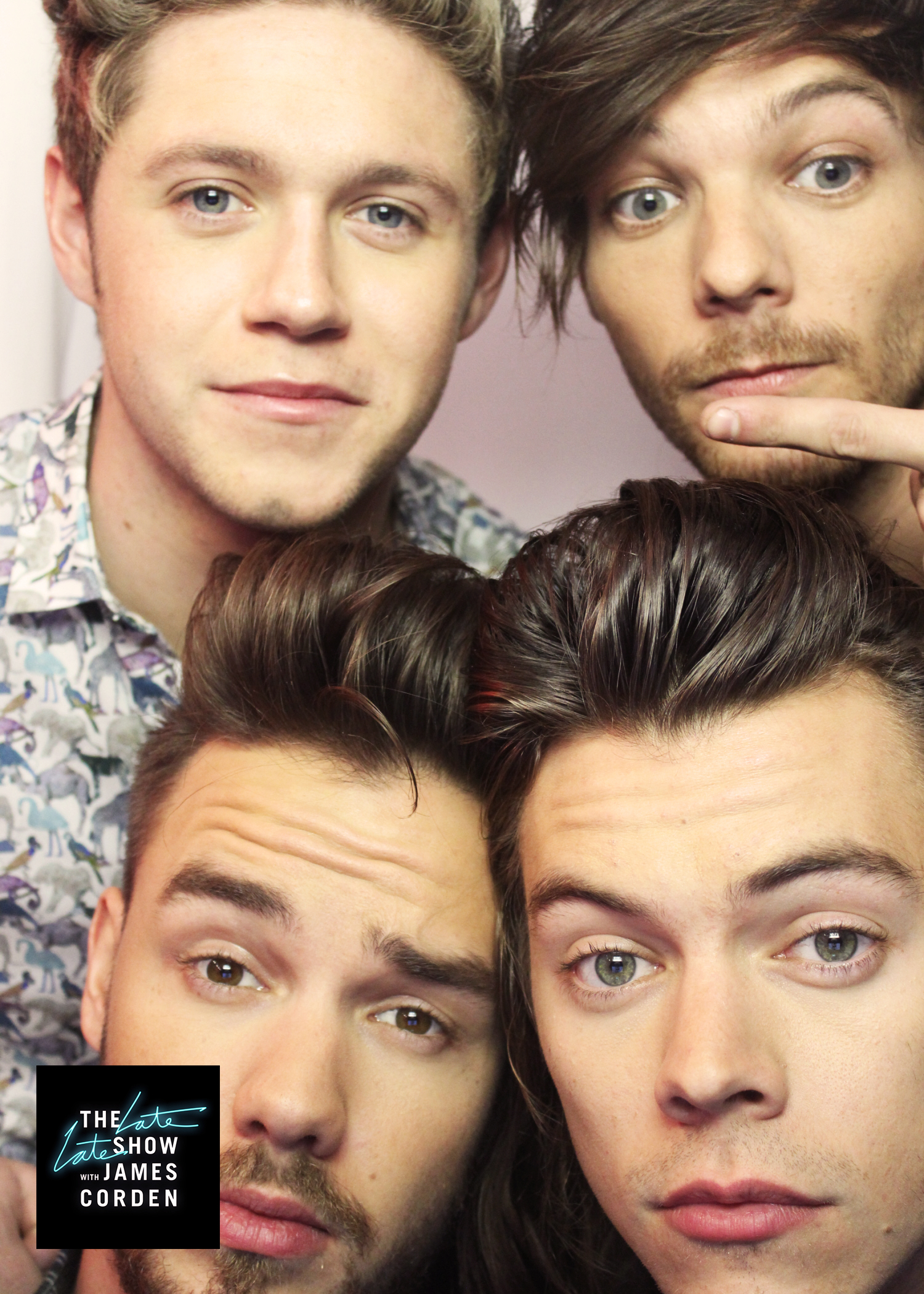 One Direction nailed their first photo booth picture.