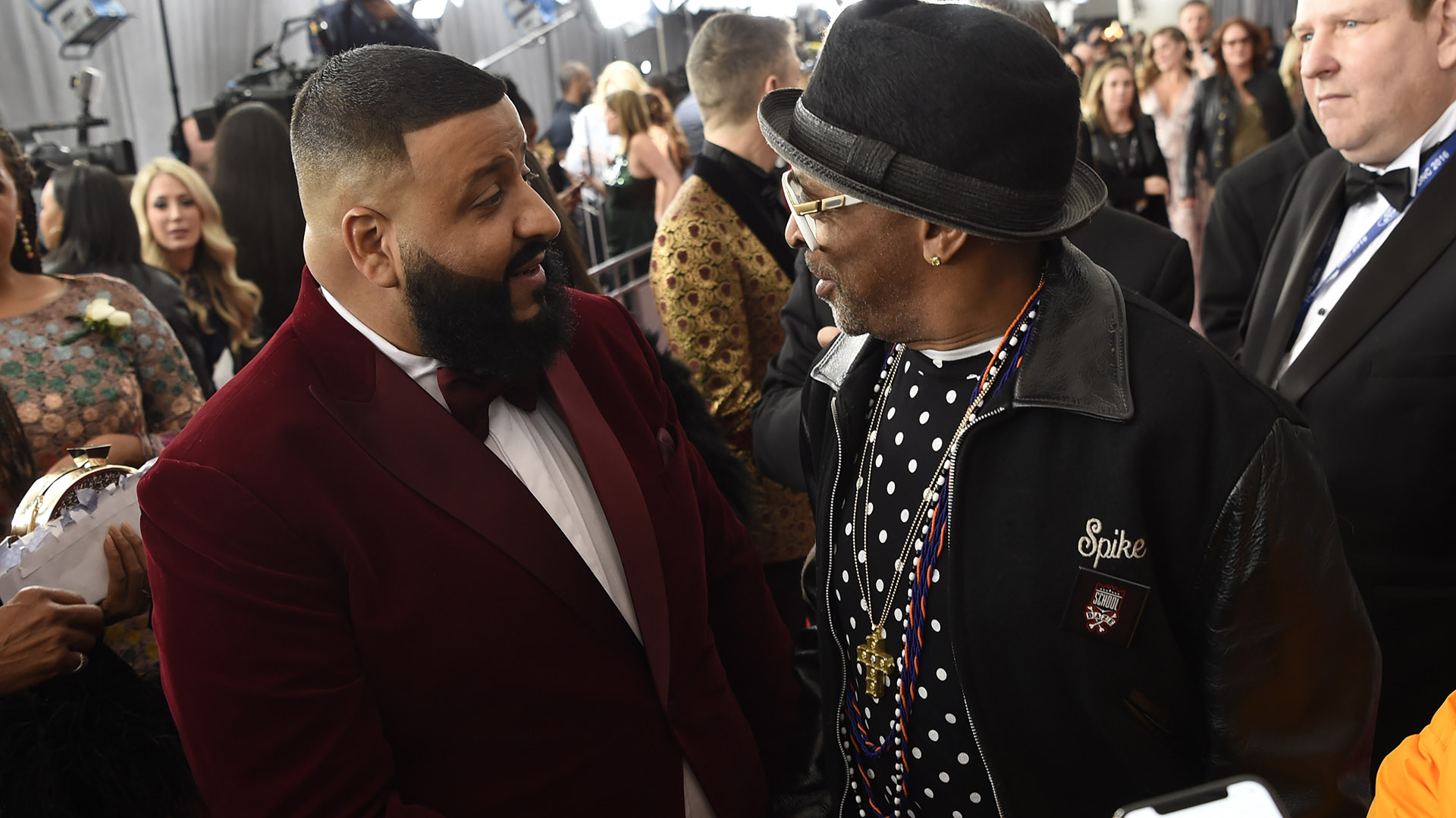DJ Khaled has an impromptu red carpet run-in with famed director Spike Lee.