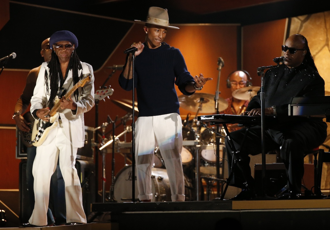 The time Pharrell performed with Stevie Wonder