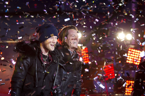 They kicked off the 2015 with a bang in Times Square.