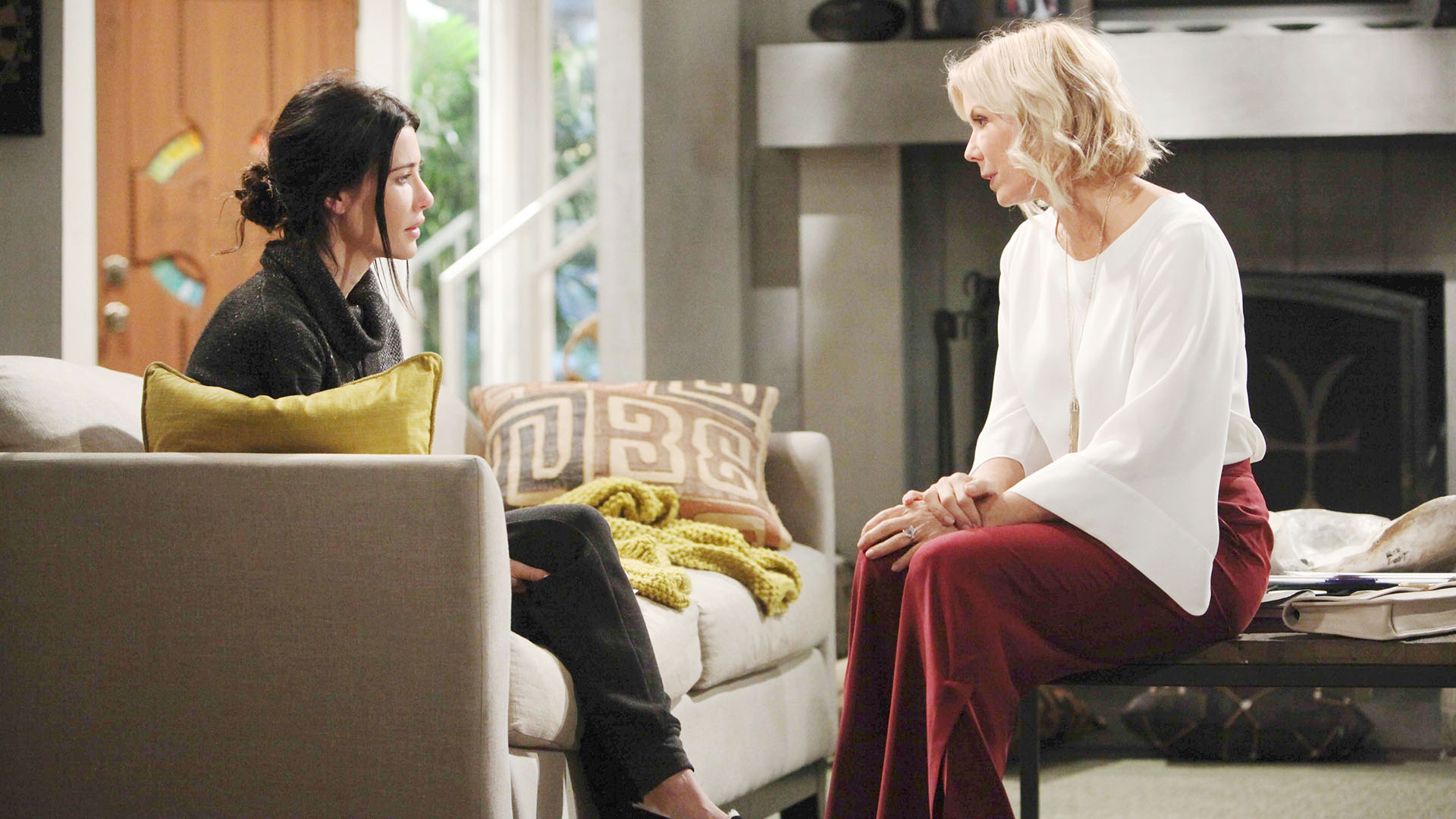 Brooke gets majorly concerned for Ridge, and Bill's safety, when Steffy confides in her soon to be step-mom that she slept with Bill