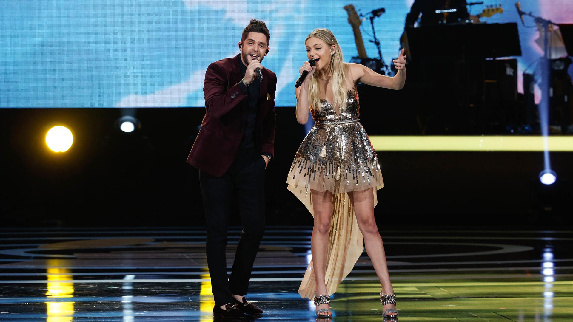Thomas Rhett and Kelsea Ballerini perform