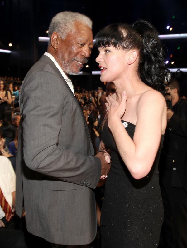 Pauley and Morgan Freeman