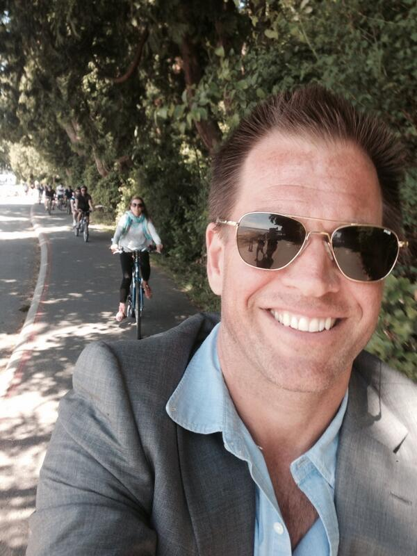 4. He can ride his bike and take a selfie at the same time (Don't try this at home... or anywhere).